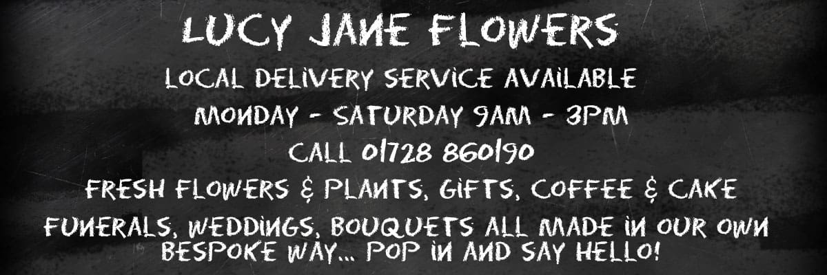lucy jane flowers advert